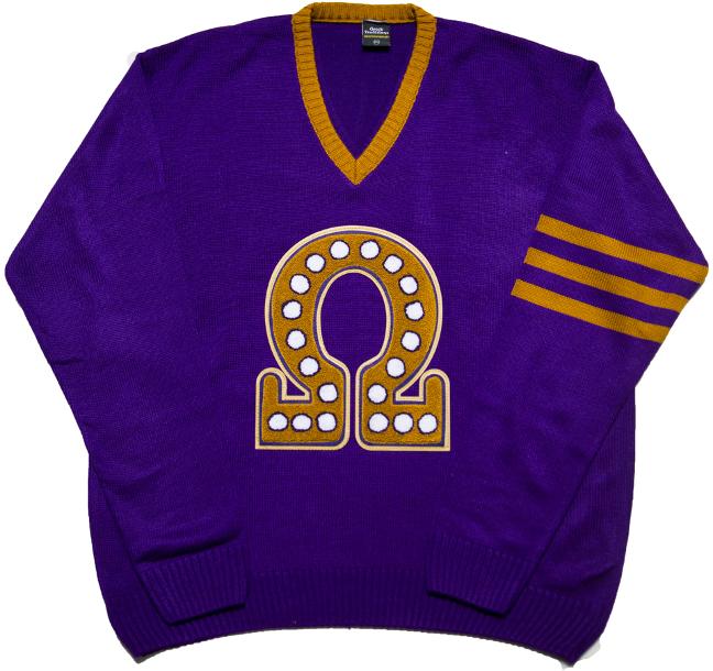 Omega Psi Phi V Neck Sweater