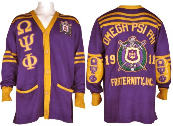 Omega Purple Cardigan Sweater W Leather Letters Elbow Patches