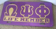 Omega_Life_Member_License_Plate