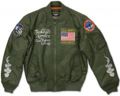 TUSKEGEE_BOMBER_JACKET_GREEN_FRONT